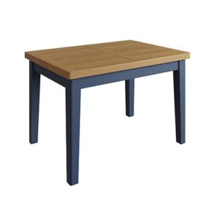 Halifax Blue Small Extending Dining Table - Dark Blue - Blue Painted - Blue - Oak - Wooden - Wood - Pine - Solid Wood - Living - Lounge - Dining - Kitchen - Bedroom - Furniture - Steptoes - Paphos - Cyprus