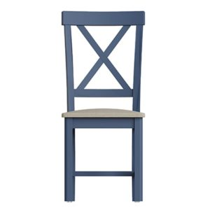 Halifax Blue Dining Chair - Dark Blue - Blue Painted - Blue - Oak - Wooden - Wood - Pine - Solid Wood - Living - Lounge - Dining - Kitchen - Bedroom - Furniture - Steptoes - Paphos - Cyprus