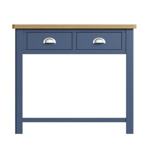 Halifax Blue Console Table - Dark Blue - Blue Painted - Blue - Oak - Wooden - Wood - Pine - Solid Wood - Living - Lounge - Dining - Kitchen - Bedroom - Furniture - Steptoes - Paphos - Cyprus