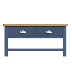 Halifax Blue Large Coffee Table - Dark Blue - Blue Painted - Blue - Oak - Wooden - Wood - Pine - Solid Wood - Living - Lounge - Dining - Kitchen - Bedroom - Furniture - Steptoes - Paphos - Cyprus