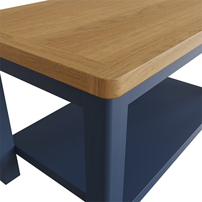 Halifax Blue Small Coffee Table - Dark Blue - Blue Painted - Blue - Oak - Wooden - Wood - Pine - Solid Wood - Living - Lounge - Dining - Kitchen - Bedroom - Furniture - Steptoes - Paphos - Cyprus