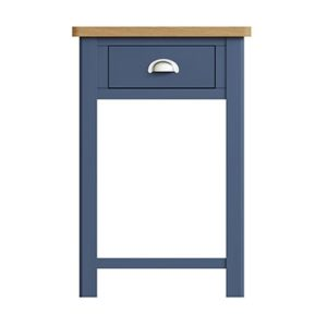 Halifax Blue Telephone Table - Dark Blue - Blue Painted - Blue - Oak - Wooden - Wood - Pine - Solid Wood - Living - Lounge - Dining - Kitchen - Bedroom - Furniture - Steptoes - Paphos - Cyprus