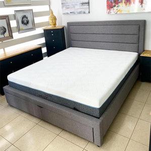 Poseidon 4'6 Double Bed - Fabric Bed - Fabric Headboard - Bedroom - Bedroom Furniture - Bed - Modern - Contempory - Sleek - Design - Interior - Comfort - Furniture - Steptoes - Paphos - Cyprus