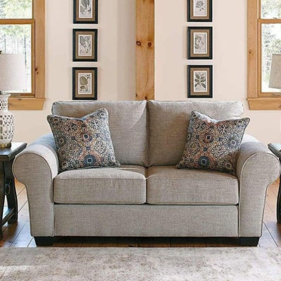 Belcampo - Sofa Set - Sofa - Fabric Sofa - Grey - Light Grey - Ashley - Comfort - Lounge - Living - Cushions - Furniture - Paphos - Cyprus - Steptoes
