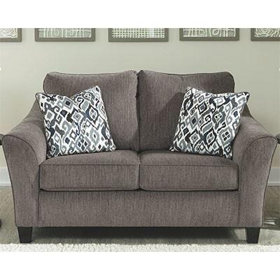 Nemoli 2 Seat Fabric Sofa - Nemoli - Fabric - Grey - Fabric - Ashley - Sofa - Static Sofa - New Arrival - Comfort - Living - Lounge - Furniture - Steptoes - Paphos - Cyprus