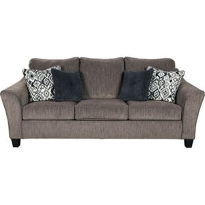 Nemoli 3 Seat Fabric Sofa - Nemoli - Fabric - Grey - Fabric - Ashley - Sofa - Static Sofa - New Arrival - Comfort - Living - Lounge - Furniture - Steptoes - Paphos - Cyprus