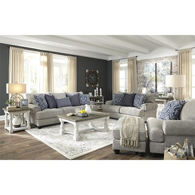 Morren - Sofa Set - Sofa - Fabric Sofa - Grey - Light Grey - Ashley - Comfort - Lounge - Living - Cushions - Furniture - Paphos - Cyprus - Steptoes