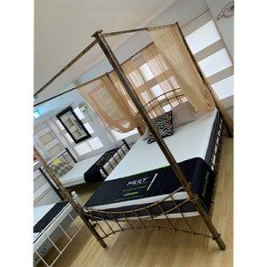 Tudor 5'0 King Size Metal Bed - Metal - Bed - Bedroom - Metal Bed - Tudor - Bronze - White - Black - 4 Poster - Bedroom - Steptoes - Furniture - Paphos -