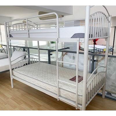 Skyline Bunk Bed - Single Beds - Bunk Beds - Metal Framed - Metal - Bedroom - Children - White - Beds - Single - Bunk - Comfort - Night - Interior - Steptoes - Paphpos - Cyprus