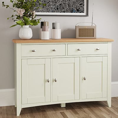 Welby White 3 Door Sideboard - White - White Painted - Pine - Oak - Wooden - House - Home - Interior - Furniture - Bedroom - Living Room - Dining Room - Paphos - Cyprus - Steptoes-