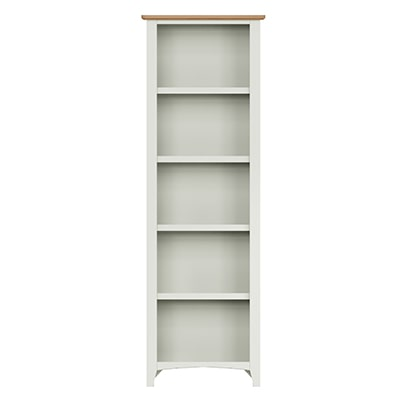Welby White Large Bookcase - White - White Painted - Pine - Oak - Wooden - House - Home - Interior - Furniture - Bedroom - Living Room - Dining Room - Paphos - Cyprus - Steptoes-