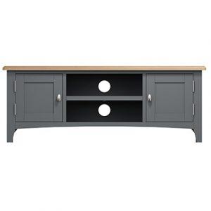 Welby Grey Large TV Unit - Grey Painted - Oak - Grey - Painted - Wooden - Pine - Oak - Dining - Living - Lounge - Kitchen - Bedroom - Furniture - Modern - Interior Design - Furniture - Cyprus - Steptoes