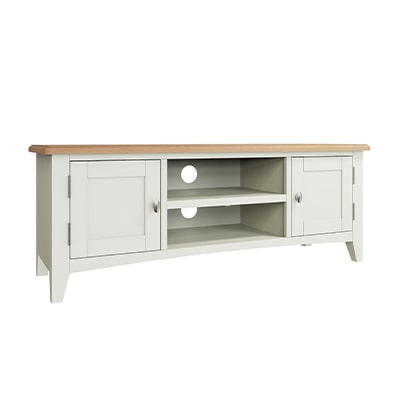 Welby White Large TV Unit - White - White Painted - Pine - Oak - Wooden - House - Home - Interior - Furniture - Bedroom - Living Room - Dining Room - Paphos - Cyprus - Steptoes-