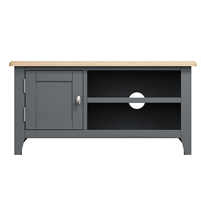 Welby Grey Small TV Unit - Grey Painted - Oak - Grey - Painted - Wooden - Pine - Oak - Dining - Living - Lounge - Kitchen - Bedroom - Furniture - Modern - Interior Design - Furniture - Cyprus - Steptoes