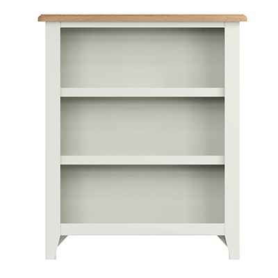 Welby White Small Wide Bookcase Bookcase - White - White Painted - Pine - Oak - Wooden - House - Home - Interior - Furniture - Bedroom - Living Room - Dining Room - Paphos - Cyprus - Steptoes-