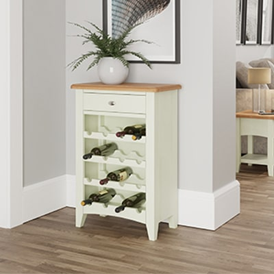 Welby White Wine Cabinet - White - White Painted - Pine - Oak - Wooden - House - Home - Interior - Furniture - Bedroom - Living Room - Dining Room - Paphos - Cyprus - Steptoes-