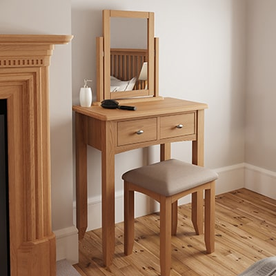 Welby Natural Dressing Table - Oak - Pine - Wooden - Natural oak - Natural Wood - Farmhouse - Interior - Living - Dining - Lounge - Kitchen - Bedroom - Interior - Furniture - Wooden - Steptoes - Paphos - Cyprus