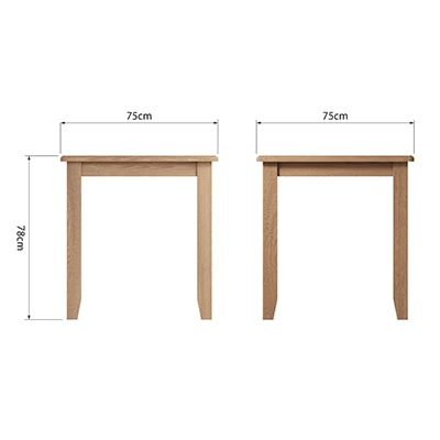 Welby Natural Small Fix Top Table - Oak - Pine - Wooden - Natural oak - Natural Wood - Farmhouse - Interior - Living - Dining - Lounge - Kitchen - Bedroom - Interior - Furniture - Wooden - Steptoes - Paphos - Cyprus