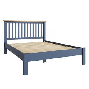 Halifax Blue 4'6 Double Bed - Dark Blue - Blue Painted - Blue - Oak - Wooden - Wood - Pine - Solid Wood - Living - Lounge - Dining - Kitchen - Bedroom - Furniture - Steptoes - Paphos - Cyprus