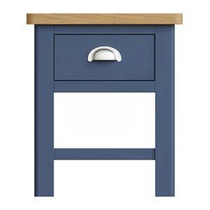 Halifax Blue Lamp Table - Dark Blue - Blue Painted - Blue - Oak - Wooden - Wood - Pine - Solid Wood - Living - Lounge - Dining - Kitchen - Bedroom - Furniture - Steptoes - Paphos - Cyprus