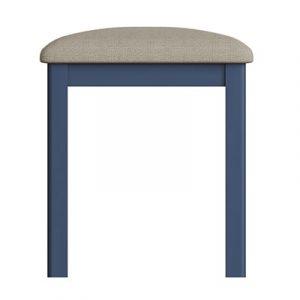 Halifax Blue Stool - Dark Blue - Blue Painted - Blue - Oak - Wooden - Wood - Pine - Solid Wood - Living - Lounge - Dining - Kitchen - Bedroom - Furniture - Steptoes - Paphos - Cyprus