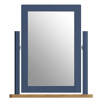Halifax Blue Trinket Mirror - Dark Blue - Blue Painted - Blue - Oak - Wooden - Wood - Pine - Solid Wood - Living - Lounge - Dining - Kitchen - Bedroom - Furniture - Steptoes - Paphos - Cyprus