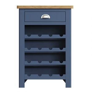 Halifax Blue Wine Cabinet - Dark Blue - Blue Painted - Blue - Oak - Wooden - Wood - Pine - Solid Wood - Living - Lounge - Dining - Kitchen - Bedroom - Furniture - Steptoes - Paphos - Cyprus