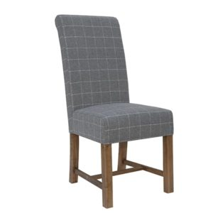 Perth Oak Woolen Fabric Dining Chair - Perth - Smoked Oak - Oak - Dining - Chair - Furniture - Steptoes - Paphos - Cypurs