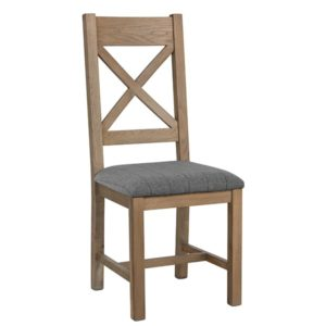 Perth Oak Crossback Dining Chair - Perth - Smoked Oak - Oak - Dining - Chair - Furniture - Steptoes - Paphos - Cypurs