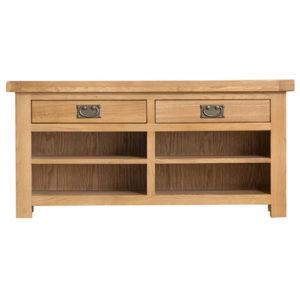 Windsor Country Hall Bench - Doors - Drawers - Oak - Wooden - Natural Oak - Natural - Dining - Sideboard - Furniture - Steptoes - Paphos