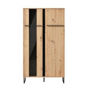 Sardinia Small Display Cabinet - Display Cabinet - Display Unit - Oak - Artisan Oak - Shelving - Bookcase - Dining - Lounge - Living - Home - Furniture - Mordern - Paphos - Cyprus - Steptoes