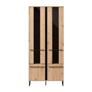 Sardinia Large Display Cabinet - Display Cabinet - Display Unit - Oak - Artisan Oak - Shelving - Bookcase - Dining - Lounge - Living - Home - Furniture - Mordern - Paphos - Cyprus - Steptoes