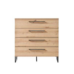 Sardinia 4 Drawer Cabinet - Oak - Artisan Oak - Chest - Drawers - Storage - Unit - Bedroom - Home - Modern - Flatpack - Steptoes - Paphos - Cyprus