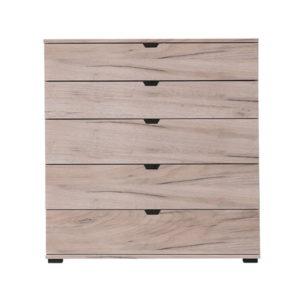 Duero 5 Drawer Wide Chest - Cabinet - Bedroom Unit - Bedroom Chest - Grey Limed Oak - Artisan Oak - White - Anthracite - Modern - Flatpack - Steptoes - Paphos - Cyprus