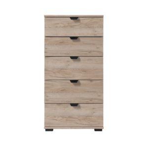 Duero 5 Drawer Slim Chest - Cabinet - Bedroom Unit - Bedroom Chest - Grey Limed Oak - Artisan Oak - White - Anthracite - Modern - Flatpack - Steptoes - Paphos - Cyprus