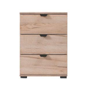 Duero 3 Drawer Bedside Cabinet - Oak - Artisan Oak - Bedside Cabinet - Nightstand - Bedroom - MDF - Flatpack - Steptoes - Paphos - Cyprus