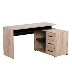 Arhimed Grey Limed Oak Computer Desk - Computer Stand - Computer Desk - Desk - Computing - Office - Gaming - Workspace - Living - Dining - Occasional - Furniture - Steptoes