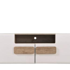 Bert Small TV Unit - White - Gloss White - Grey Limed Oak - Modern - Living - Dining - Bedroom - Furniture - Flatpack - Paphos - Cyprus - Steptoes