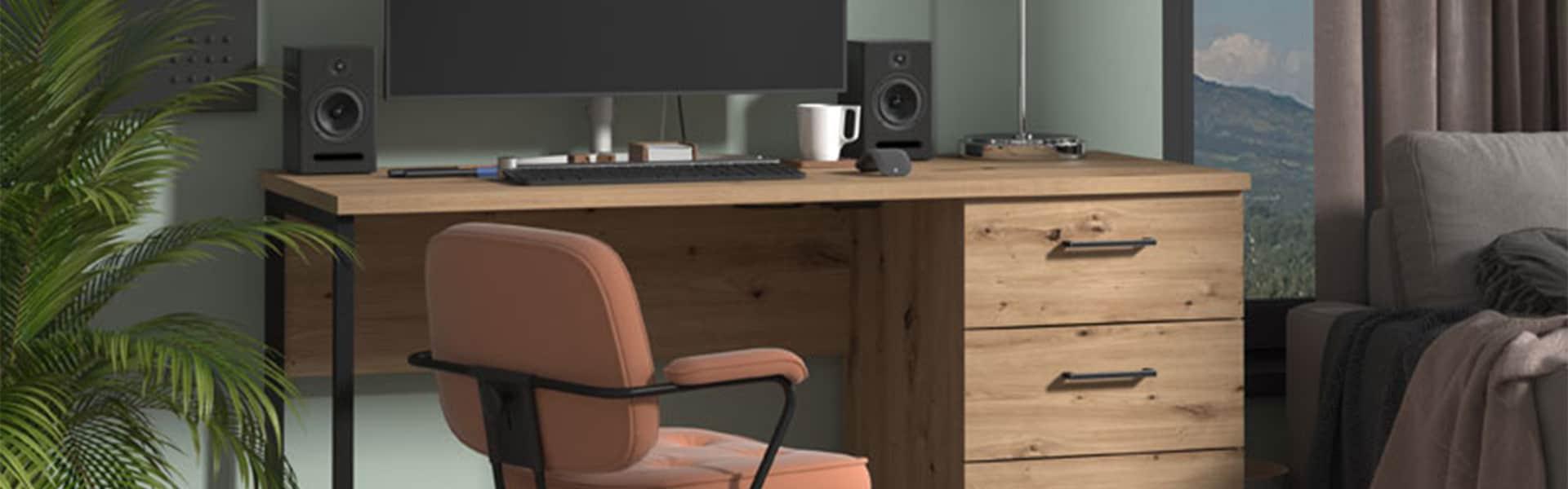 Computer Desk - Computer Stand - Back to school - MDF - Flatpack - Modern - Desk - Stand - Office